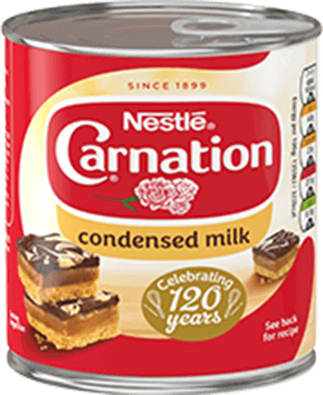 Carnation condensed milk can
