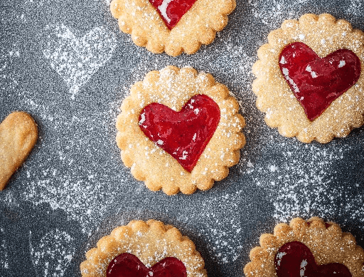 Sweethearts Strawberry Jam Biscuits