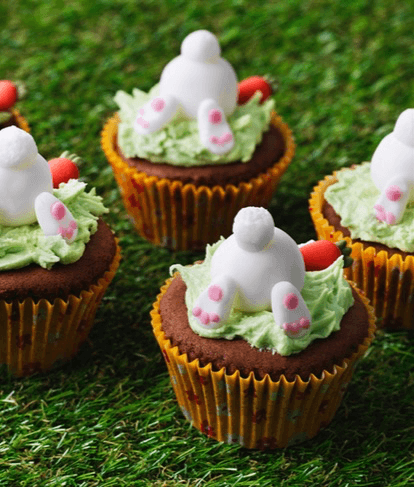 Disappearing Easter Bunny Cupcakes