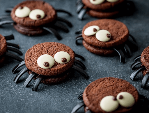 Scary Spider Cookies