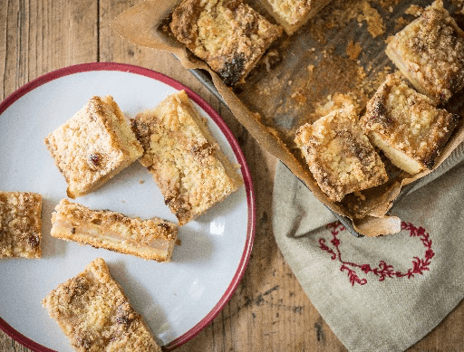 Caramel and Apple Traybake
