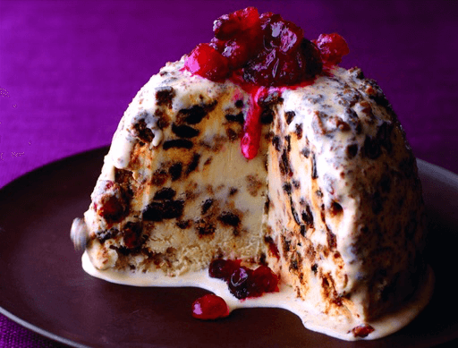 Christmas Cake Ice Cream Bombe