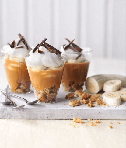 Light Banoffee Pots