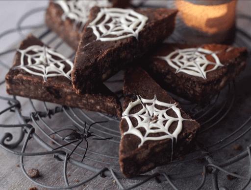 Halloween Web Chocolate Triangles