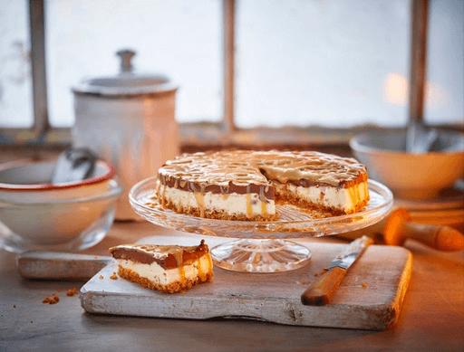 Frozen Peanut Millionaires Cheesecake