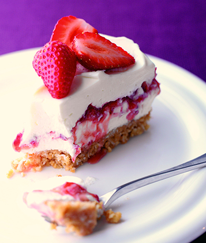 Strawberry and Coconut Cheesecake