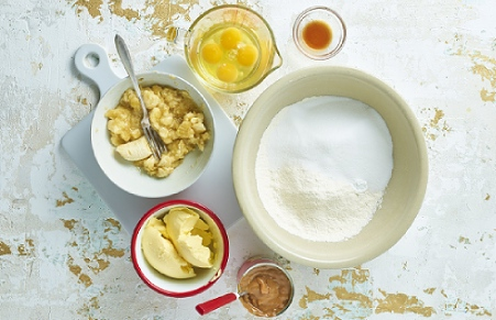 Banoffee Layer cake ingredients