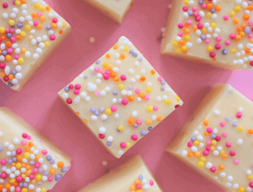 Funfetti White Chocolate Fudge