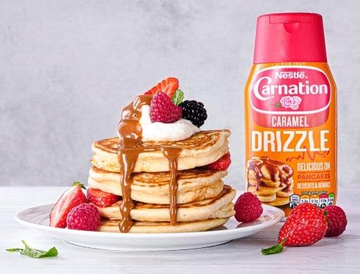 Carnation Caramel Drizzle Pancakes