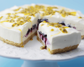 Blueberry and Passionfruit Cheesecake