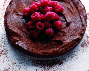 Decadent Chocolate and Raspberry Torte