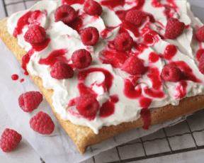 Raspberry Ripple Angel Cake