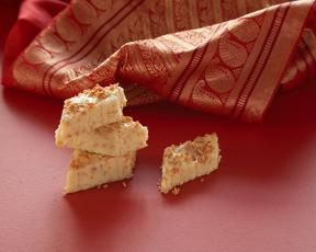 Toasted coconut burfi