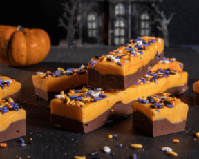 halloween chocolate orange fudge